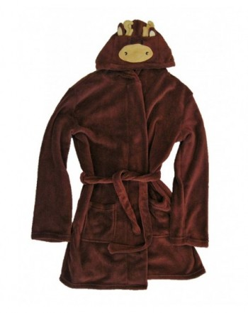 DreamLife Boys Brown Plush Bathrobe