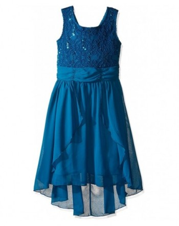 Speechless Girls Glitter Chiffon Dress