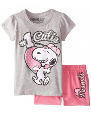 Peanuts Girls 2pc T Shirt Short