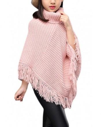 Knitted Poncho Tassel Sweater Irregular