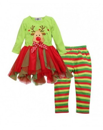 Toddler Girls Two piece Striped Legging