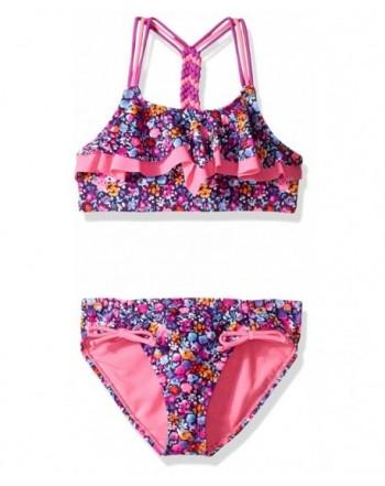 VIGOSS Double Flounce Macrame Swimsuit