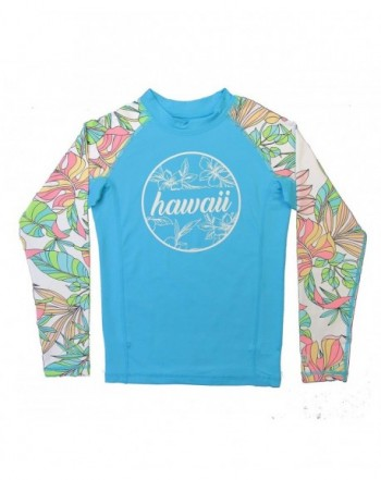 Seafolly Girls Short Sleeve Zip Front Rashguard