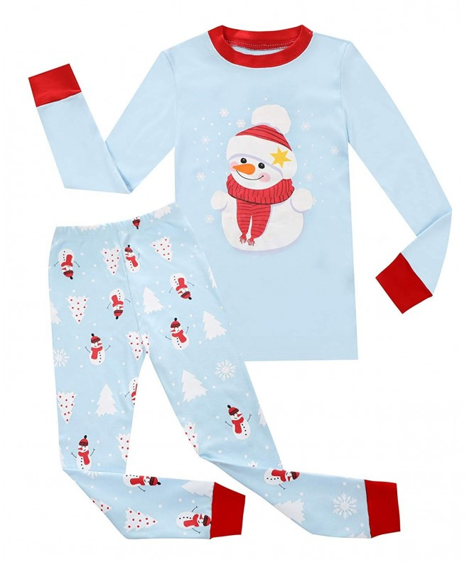 Toddler Boy Christmas Pajamas.Boys Christmas Pajamas Kids 100 Cotton Pjs Set Toddler Santa Claus Sleepwear Blue S Cz18in6zyhq