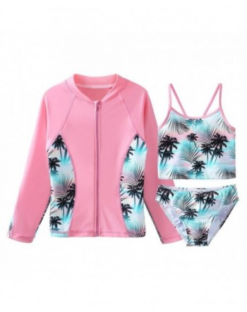 TFJH Girls Swimsuit Swimwear Sunsuits