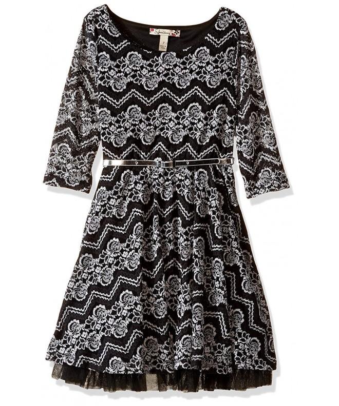 Speechless Girls Chevron Lace Dress