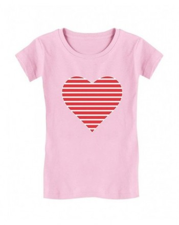 Red Striped Heart Love Valentines