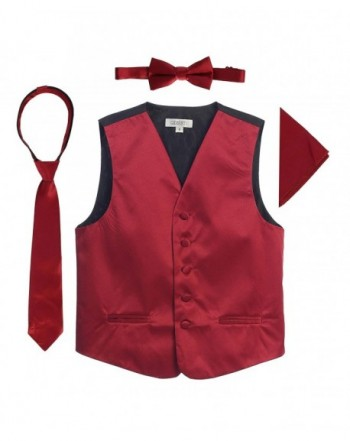 Gioberti Boys Satin Formal Vest