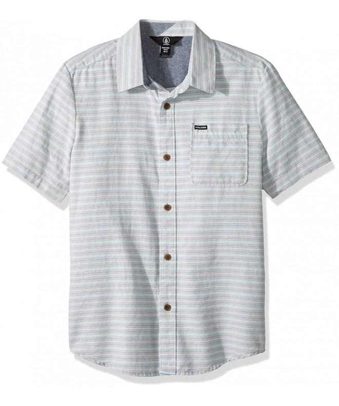 Volcom Eastport Chambray Sleeve Button