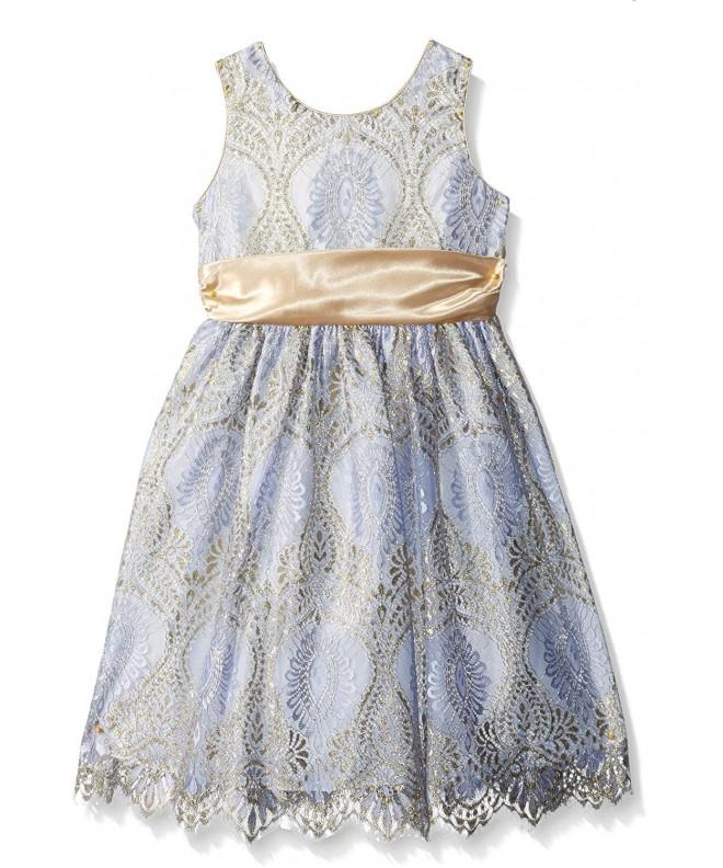 Jayne Copeland Little Border Satin Dress