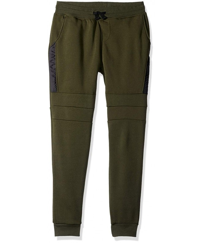 Southpole Fleece Jogger Pants Detail