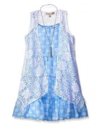 Speechless Girls Lace Vest Dress