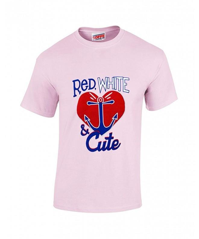 Soffe Girls White Cute Patriotic