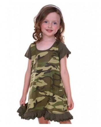 Kavio Little Girls Camouflage Sleeve