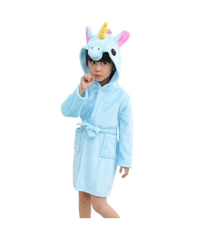 Unicorn Robe for Girls; Extra Plush Turquoise Blue Purple and White Robe