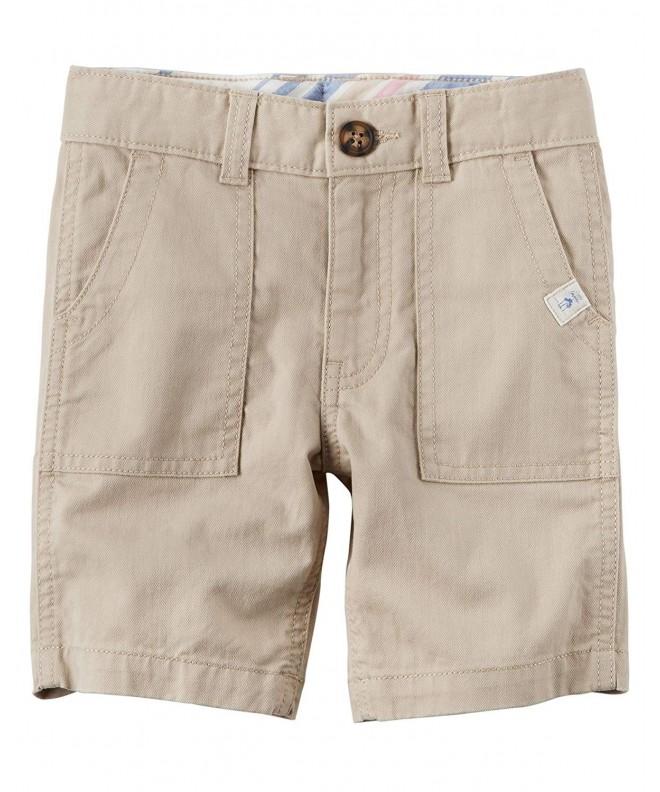 Carters Boys Herringbone Shorts Khaki