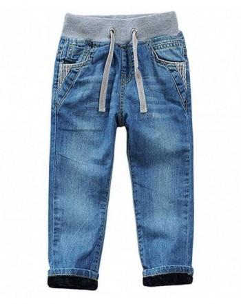 LISUEYNE Toddler Cotton Denim Jeans