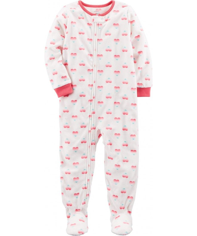 Carters Girls 12M 24M Fleece Pajamas