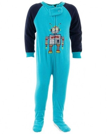 Mon Petit Robot Footed Pajamas