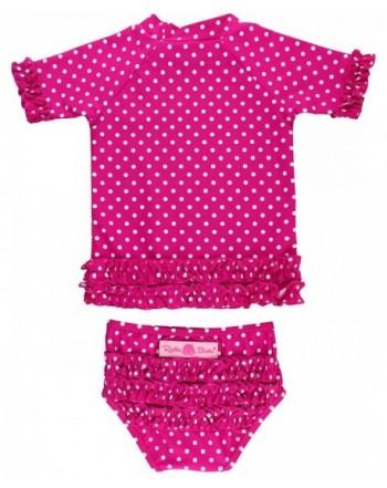RuffleButts Little Sleeve 2 Piece Swimsuit