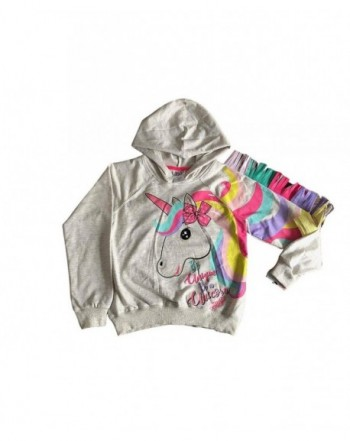 Unicorn Hoodie Sweatshirt Rainbow Pullover