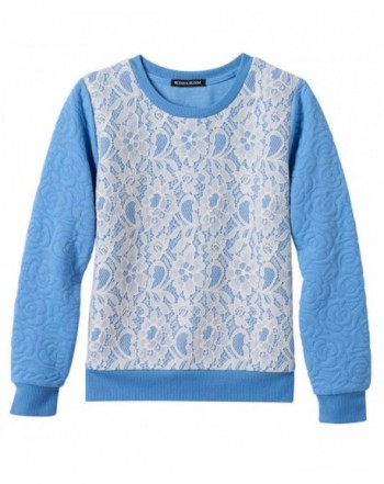 Blush Bloom Girls Quilted Pullover