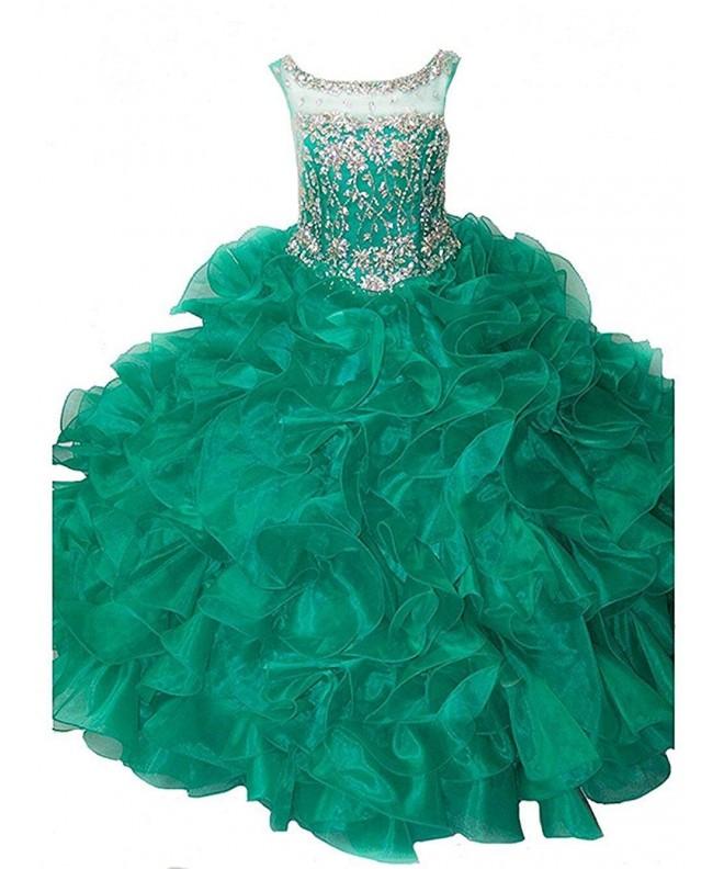 WZY Spaghetti Ruffled Pageant Dresses