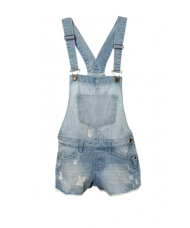 Girls Dungaree Outfit Shorts Jumpsuit