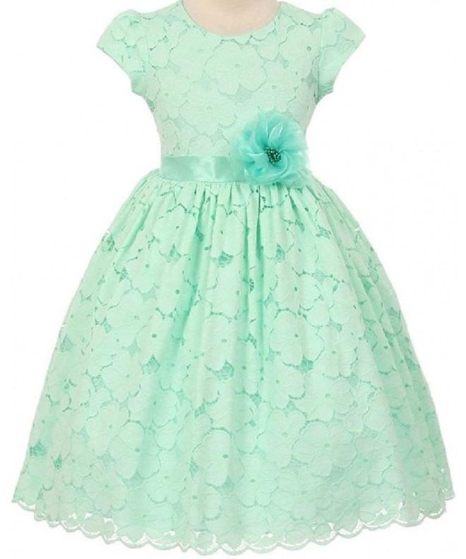 Little Sleeve Cotton Flowers Dresses