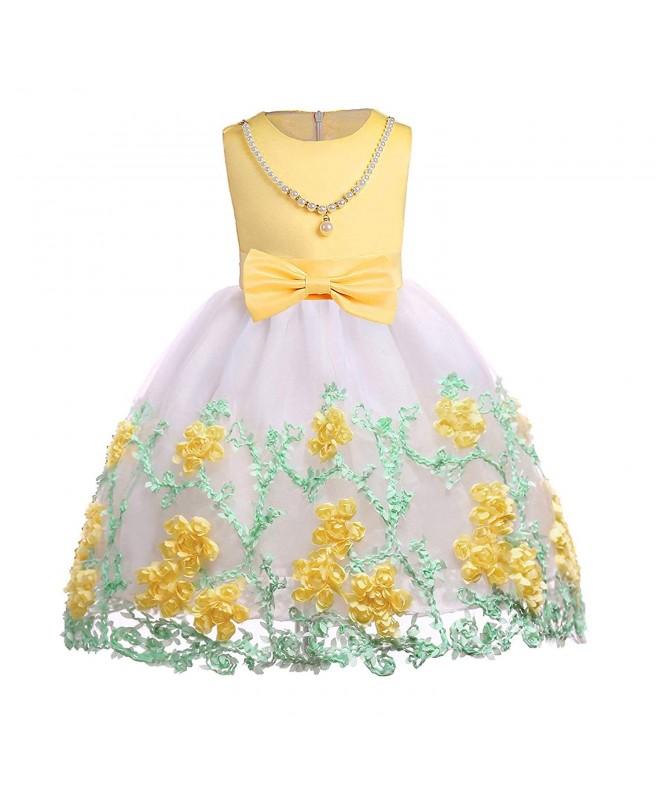 JIANLANPTT Baby Girls Flower Petal Tulle Dresses Summer Sleeveless Party Dress