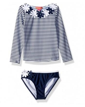 Kate Mack Girls Rashguard Bikini
