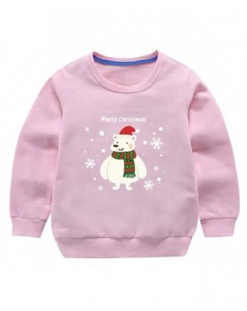 Pullover Christmas Sweatshirts Crewneck Snowflake