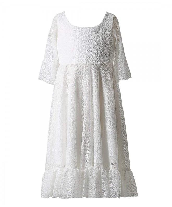 8983a206a79 Girls  Soft Lace First Communion Dress - Off-White - CM1825EQZRE