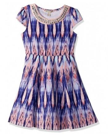 Speechless Girls Scuba Embellished Dress