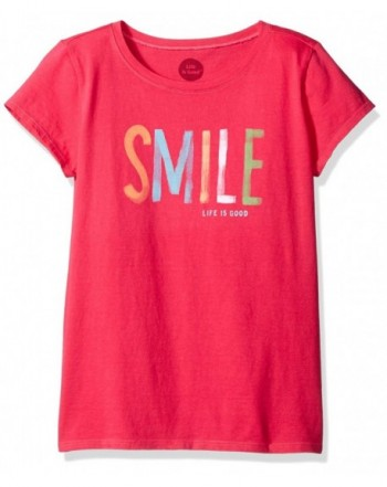 Life Good Girls Smile Painted