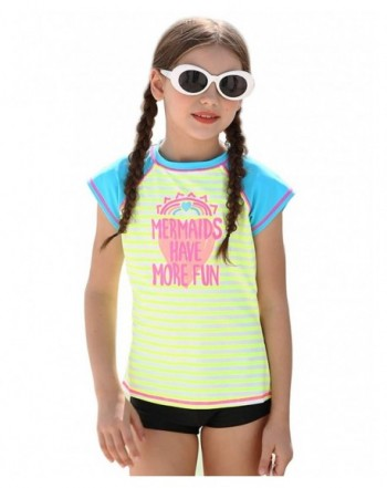 SWIMKIDS Big Girls Wink Long Sleeve Rash Guard Swim Shirt