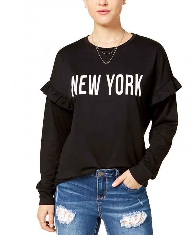 Pretty Rebellious Juniors Ruffled Sweatshirt