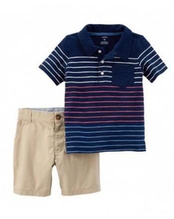 Carters Striped Shirt Shorts Stripe