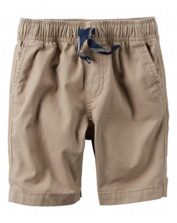 Carters Boys Pull On Canvas Shorts