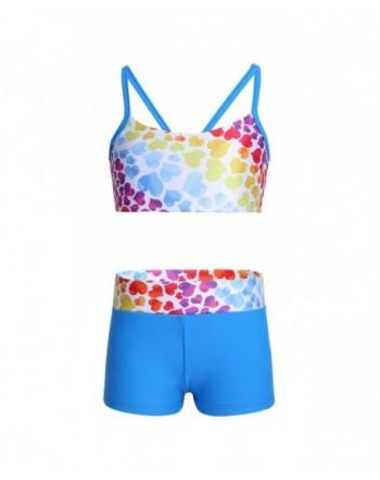 YOOJIA Heart Shaped Pattern Athletic Swimwear