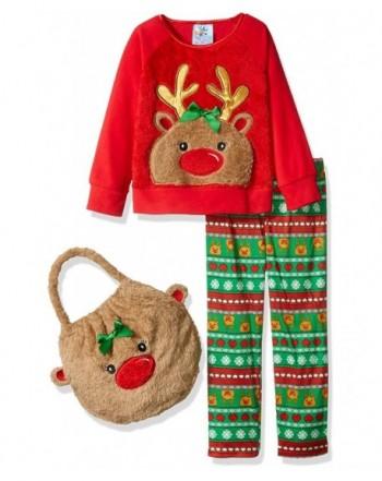Bunz Kidz Girls Reindeer Pajama
