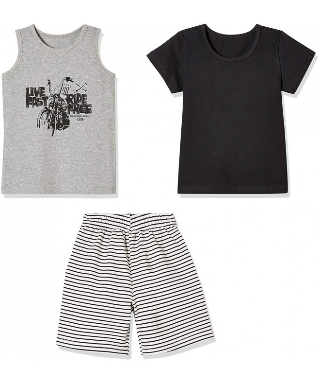 Sprout Star T Shirt Stripe Shorts