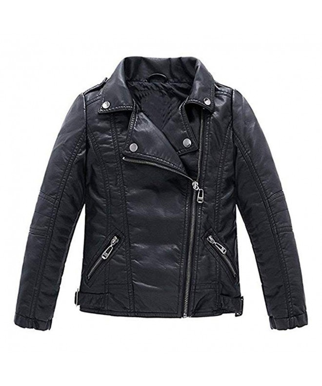 Meeyou Childrens Motorcycle Leather Jacket