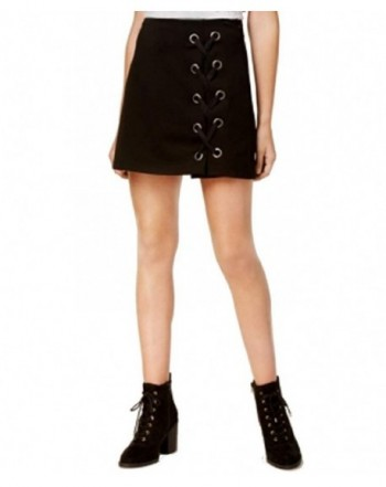 One Hart Juniors Lace Up Skirt