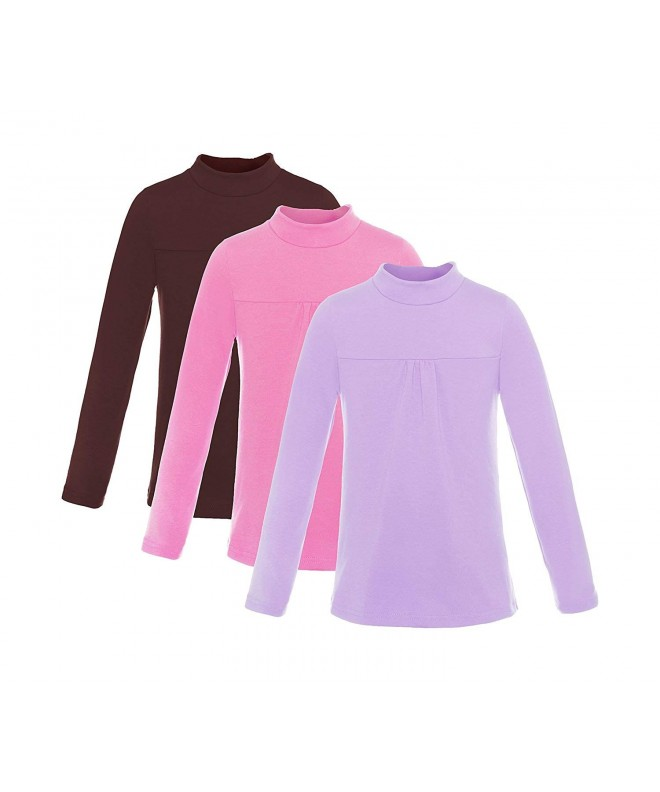 ReliBeauty Girls Mock Neck Ruched