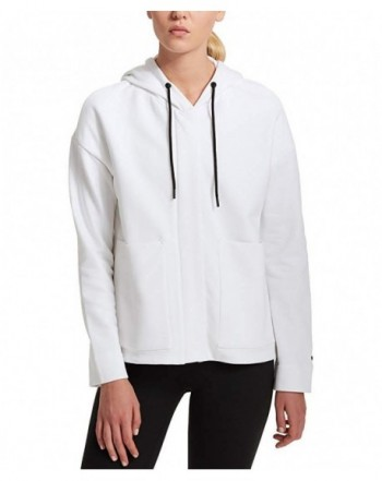 DKNY Cotton Hooded Fleece Jacket