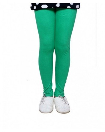 Indistar Cotton Length Colors Leggings_Green_17 18