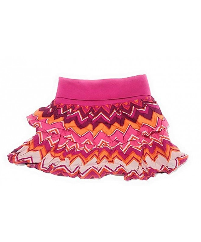 Crazy Girls Chevron Ruffle Skirt