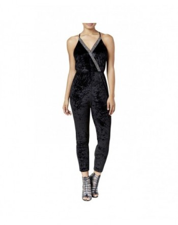 XOXO Womens Juniors Sleeveless Jumpsuit
