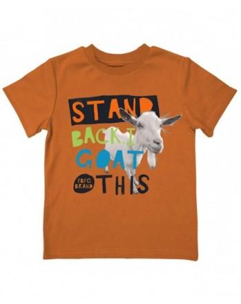 Farm Boy Girl Stand Orange